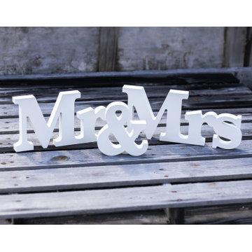 Senhor e Sra. Casamento Sinal H8 X W43cm Decoração de Casamento Senhor e Sra. Cartas