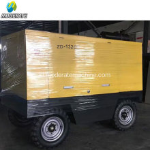 Diesel powered 132KW / 175HP kompresor udara sekrup