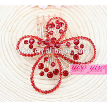 princess real red diamond wedding hair jewelry
