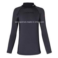Alta calidad Spandex Nylon Negro Surf Rash Guard para los hombres (SNRG01)