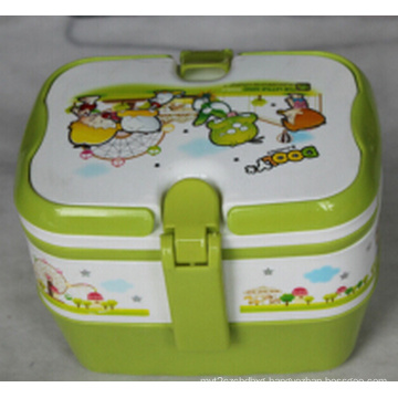 Two Layer Plastic Lunchbox