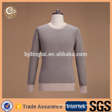 100% cotton 7GG knitted sweater