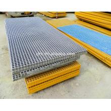 frp grp fibra de vidrio reforzada piso de plástico rejilla de rejilla grating cubierta de rejilla