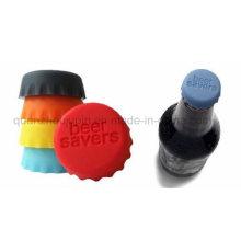 Tapa de la botella del ahorrador de la cerveza del coque de la leche del silicón del logotipo del OEM