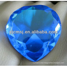 Blue Crystal Wedding Heart Diamond For Wedding Gift