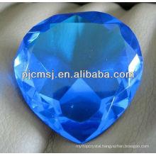 Blue Crystal Wedding Heart Diamond For Wedding Gift