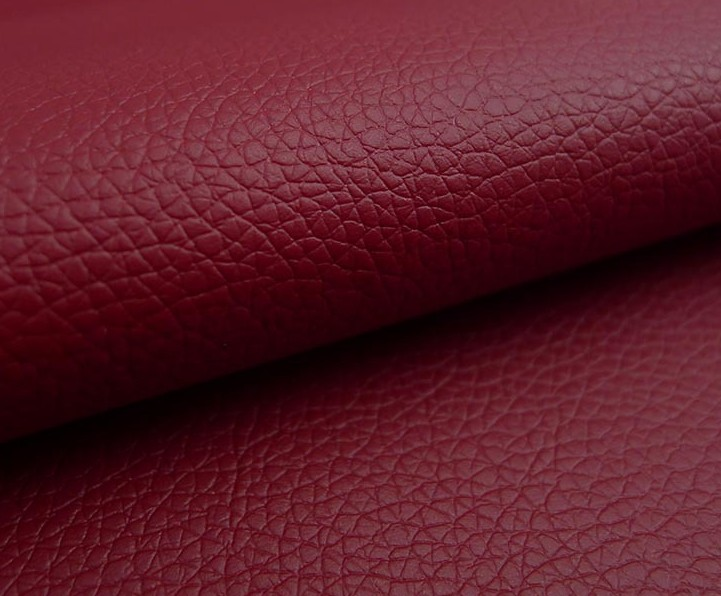 0.8mm small litchi pattern semi PU leather