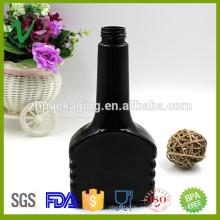 De alta calidad de reciclaje cuadrado negro botella de aceite de motor de plástico 250ml