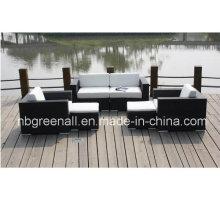 Rattan ao ar livre / sofá de vime para móveis de jardim