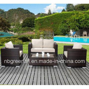 Rattan do PE & mobília do frame de alumínio, sofá ao ar livre do Rattan