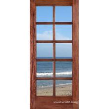 Modern Design Solid Wood Door with Glass Doors Prices