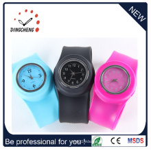 Hot Fashion Digital/Quartz Silicone Wristband Slap Watch (DC-096)