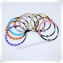 Catholic Colourful Plastic Beads Saint Rosary Bracelet (IO-CB164)