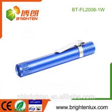 Bulk Sale Portable Aluminum Material Medical Usage 1 Watt Pocket Promotional Cheap Pen Light Matal Bright torch flashlight