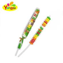 Cheap Halal Fruits Flavors Long Stick Roll Candy Lollipop