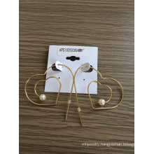 Heart Shaped Earrings with Metal Fashion Jewellery