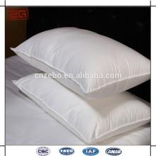 Topo da venda 233TC capa de prova para baixo com penas de pato enchimento branco travesseiro inserções