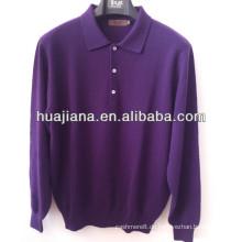 grundlegendes Design Mann plain stricken T-Shirt Pullover