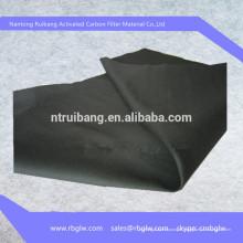 Tissu de fibre de charbon actif