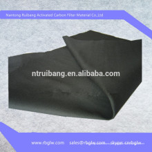 поставки 100% чистый уголь уголь активированный фильтр-ткань волокна углерода