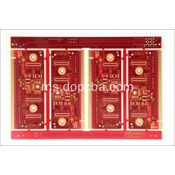 Red Solder Mask 1oz 4layers customized pcb board