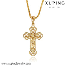 32706-cheap bulk jewelry 18k gold simple cross pendants