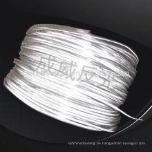 hochhelles silbernes und weiß eingefärbtes elastisches reflektierendes Paspelband