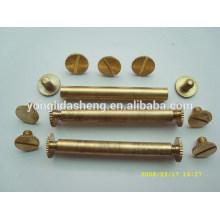 Tapón de rosca de metal dorado, tapa roscada para techo, tornillos de techo de chapa metálica
