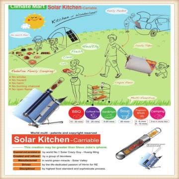 Utensílios de cozinha solar para acampar