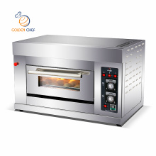 Stainless steel One deck one tray pizza oven equipment rotary oven gas pizza ovens