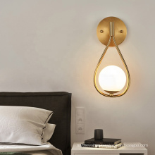 Nordic design gold color wall light indoor decorative creative wall lamp Home decorative modern indoor art shade wall lamp