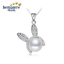 Colgante de perlas de agua dulce real de 10-11mm
