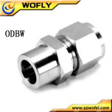 """Conector de soldadura de tubo macho de 1/8 """"a 1"""" Acoplamiento de tubo de compresión de acero inoxidable"""