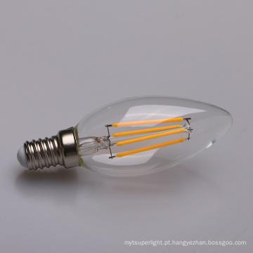 Bulbo da vela do diodo emissor de luz E14 do filamento de Dimmable de 4 watts