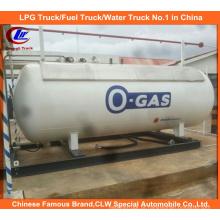 Estação do patim de enchimento do cilindro do gás do LPG 10mt com distribuidor duplo do bocal