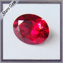 Brilliant Cut Pigeon Blood Red Corundum Lab Ruby for Jewelry