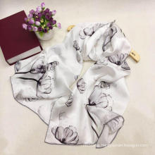 Floral Satin Silk Popular Scarves Women