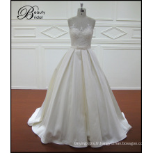 Robes de mariée sirène satin dentelle Vintage