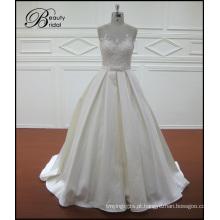 Vestidos de noiva de cetim sereia Vintage Lace