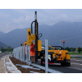 truck mounted pile driver guardrail post driver