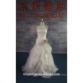 415A-05 слоновая кость только 1шт в наличии 42# роскошь Рябить свадебное платье из органзы с цветок створки дешевые свадебные платья для женщин Weddng