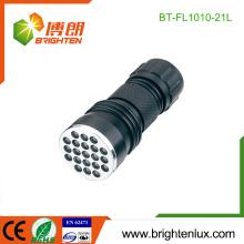 Fourniture d'usine CE ROHS Matériau en alliage d'aluminium 21 led aaa Flashlight Torch For Sale