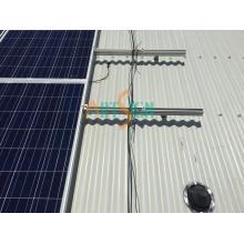 Painel solar para telhado de metal