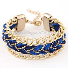 Las pulseras de la armadura de la cuerda del estilo del boho del verano venden al por mayor en YIWU