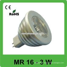3W Mr16 12V levou iluminação marinha