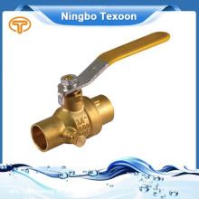 Mejores fabricantes en China de cobre amarillo válvula de bola Pn20 Cw617N