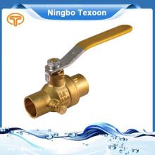 Melhores fabricantes na China válvula de esfera de bronze Pn20 Cw617N
