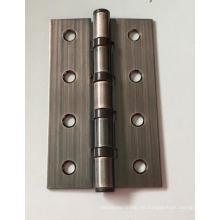 Bisagra de puerta de hierro bronce rojo de agujero recto de fabricación de chapa