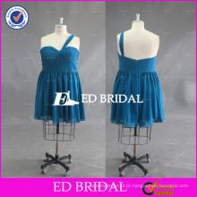 Custom Made Plus Size One Shoulder Sweetheart Vestido de dama de honra Chiffon curto 2016
