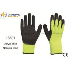 Acryl Shell Napping Futter Latex beschichtet Crinkle Finish Sicherheit Arbeitshandschuh (L6501)